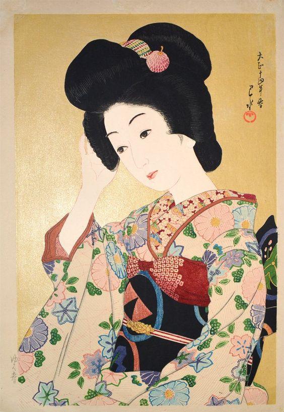 Hasui Kawase 1925 - départ du printemps - Yuku Haru
