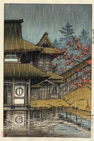 Hasui Kawase 1933 - Yamano Tera Sendai