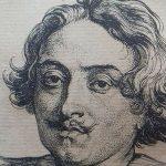 Une gravure d'Antoine Van Dyck, portrait du peintre Suttermans