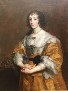 Anthony Van DYCK – Flamand - La reine Henriette Marie – 1636 – La reine d'Angleterre est enceinte – Cadeau de la reine au cardinal Barberini – un des nombreux cadeaux en peinture qui ont diffusé la renommée d Van Dyck dans toute l'Europe – MET de New York