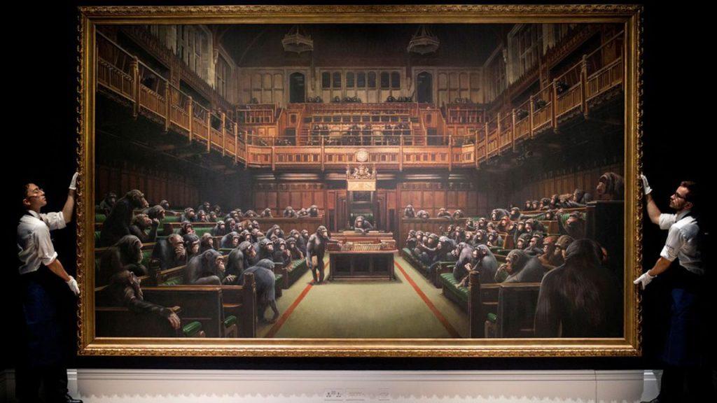 Banksy Devolved Parliament adjugé 11 millions d'euros en octobre 2019