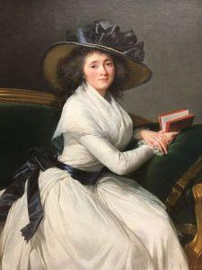 Elisabeth VIGEE LE BRUN – Française – Comtesse de la Châtre, fille du premier valet de chambre de Louis XIV – 1786 – Goût du peintre pour des vêtements classiques et intemporels dans ses portraits. Ici, une robe de mousseline blanche - MET de New York