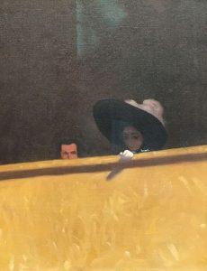 Félix VALLOTTON – Suisse – The theater box - 1909 – Cadrage remarquable - Collection privée