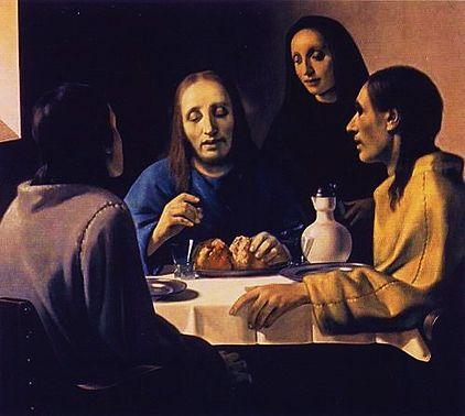 Les Disciples d'Emmaus - faux tableau de Vermeer peint par Han Van Meegeren en 1936
