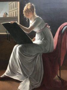 Marie Denise VILLERS (1774-1821) – Française - Portrait de Marie-Joséphine Charlotte du Val d'Ognes-1801 – Villers a été l'élève de Girodet – Portrait attribué d'abord à David - MET de New-York