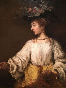 Rembrandt-Flora-CA-1654-deesse-du-printemps-et-sans-doute-Saskia - MET New York