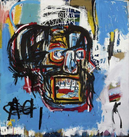 """Jean-Michel Basquiat """"Untitled"""" (sans titre) 1982, vendu 110,5 millions de dollars chez Sotheby's en mai 2017"""
