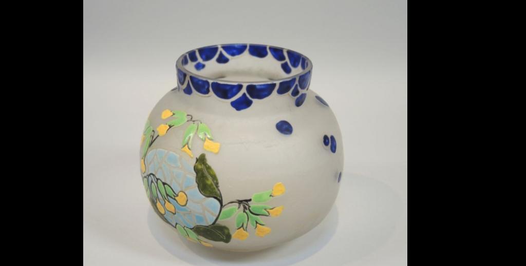 Vase Legras -  13cm - Adjugé 90€ - vendu en 2014