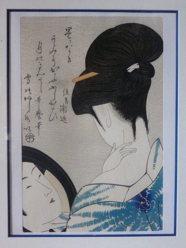 "Utamaro Kitagawa ""Se poudrant le cou"""